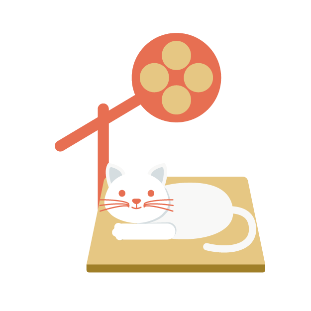 診察台の猫